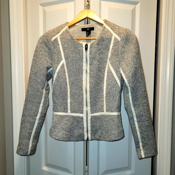 Vintage retro H&M fitted structured zipper blazer